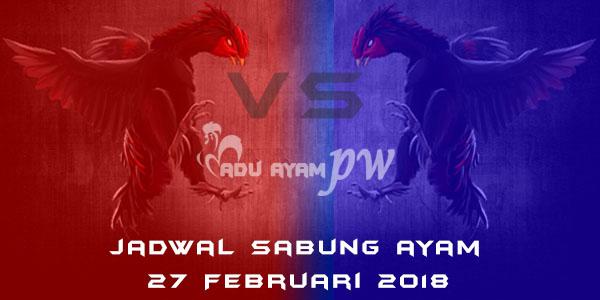 jadwal sabung ayam 27 Februari 2018