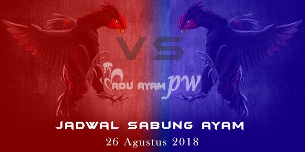 Jadwal Sabung Ayam 26 Agustus 2018