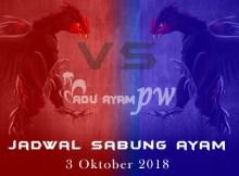 Jadwal Sabung Ayam3 Oktober 2018