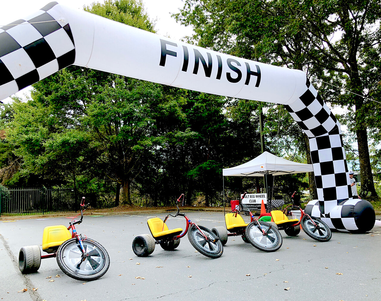 At the finish line, we are ready for your team we host one of a kind adult and youth activities