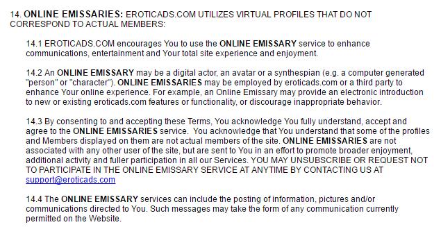 EroticAds.com online emissaries
