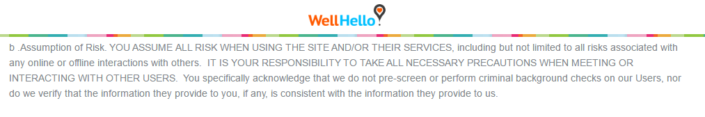 WellHello.com user risk