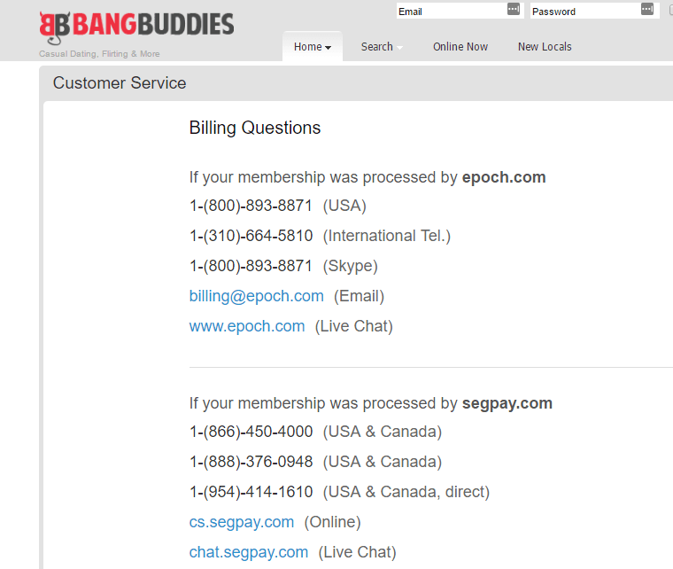 Bangbuddies.com-customer support