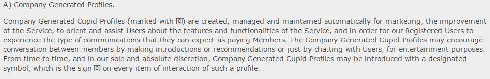 Cougar Crush Company generated profiles