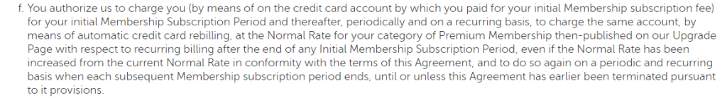 Horny Matches card authorization