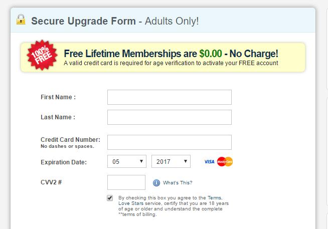 Sexyfuckfriend credit card needed