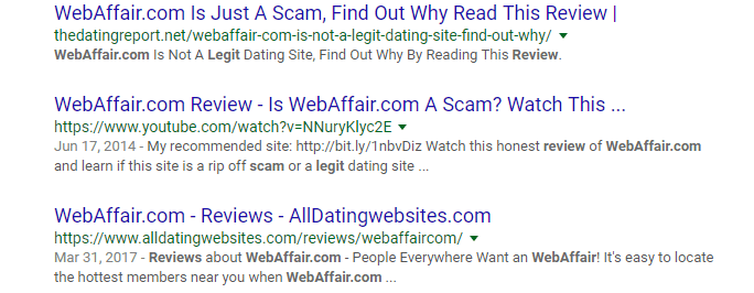 web affair reviews