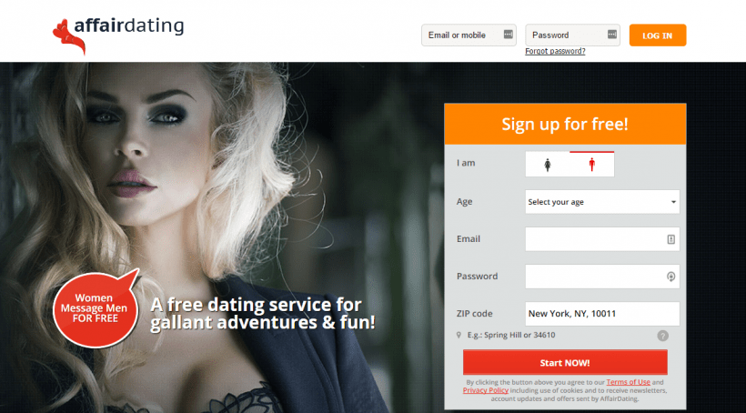 AffairDating.com screencap