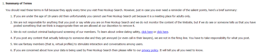 Free Hookup Search screencap