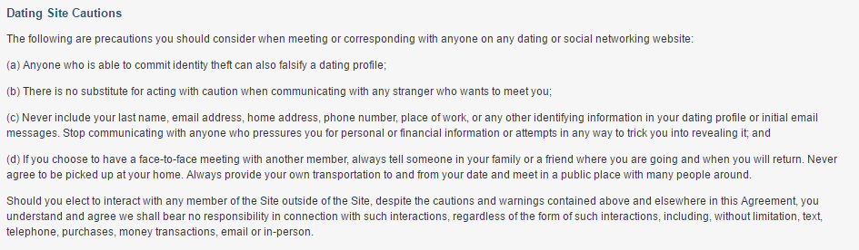 Fuck Now dating site caution