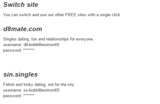 Saucy Dates switch site