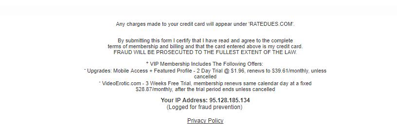 Mega Hookup complete fees