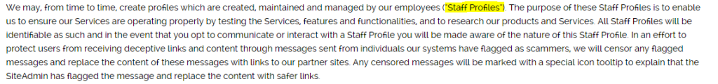 Want U Bad Staff Profiles