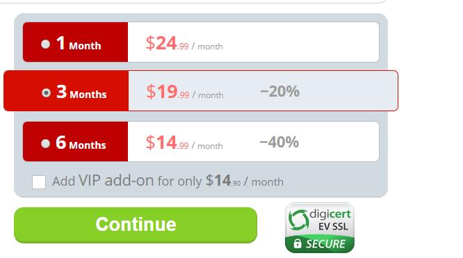 Booty rush VIP fees