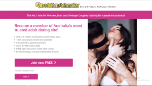 AdultMatchMaker.co.au screencap