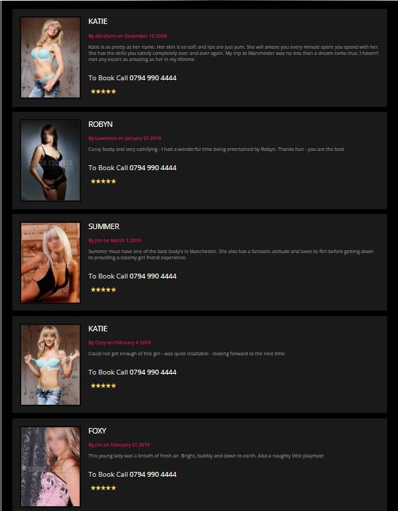 Shush Escorts Review user feedback