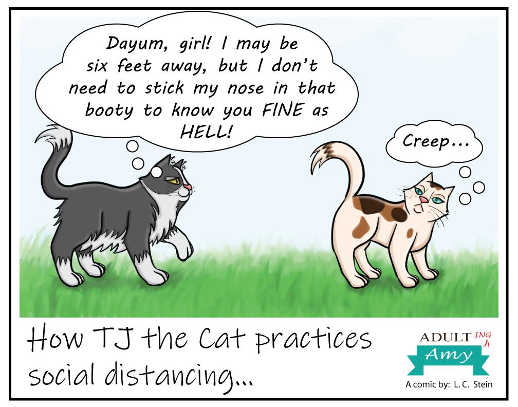TJ Practices Social Distancing