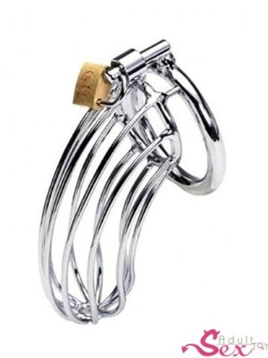 Steel Metal Male Chastity Device Locked Cage-adultsextoy.in