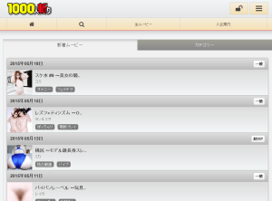 Screenshot of 1000giri smartphone site