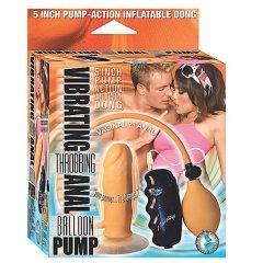 Nasstoys 5″ inch Vibrating Throbbing Anal Dong Balloon Pump