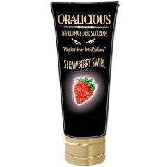 Oralicious The Ultimate Oral Sex Cream Strawberry Swirl 2oz