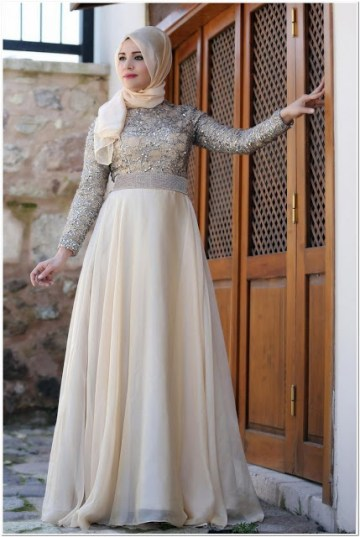Gaun Pesta Cantik Muslimah