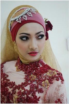 Model Hijab Pengantin Untuk Wajah Cantik