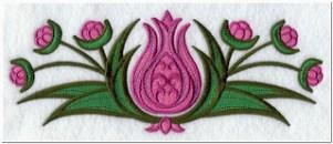 Motif Bunga Tulip Pinggiran