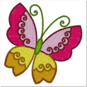 Gambar Bordir Model Kupu-kupu