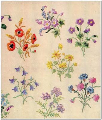 Bordir bunga kecil