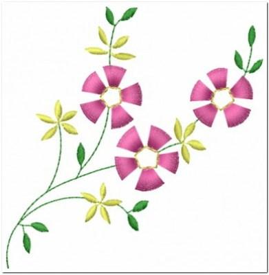 Bordiran Bunga Kecil Cantik