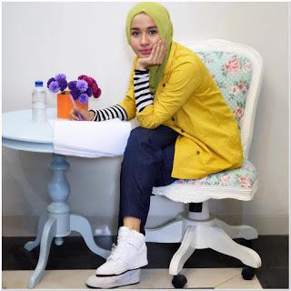 Model baju hijab laudya chintya bella