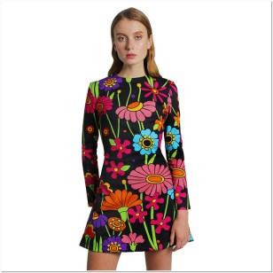 model baju atasan wanita motif bunga