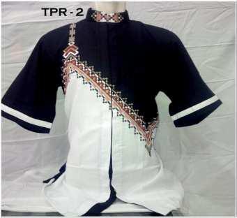 Model Baju koko kombinasi batik pria