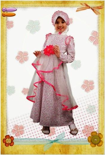 Model Baju pesta anak anak muslim
