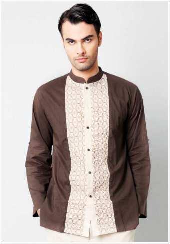 Contoh baju koko kombinasi batik keren