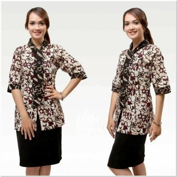 Rekomendasi Model baju batik atasan wanita terbaru