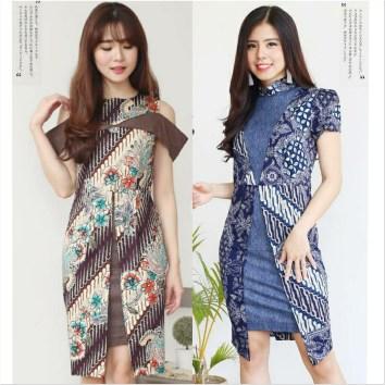 Model dress batik terbaru 2018
