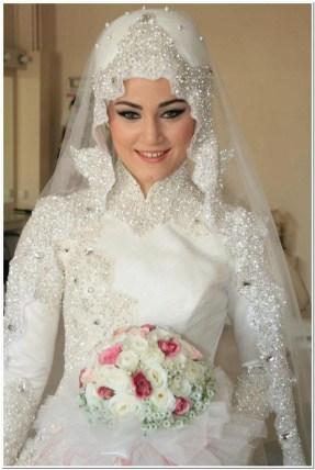 Aneka kerudung pengantin muslim modern
