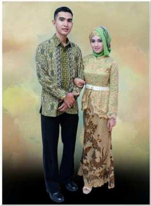 Gambar baju kebaya brokat kombinasi batik