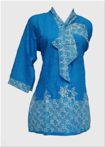 Model baju batik kerja guru simple terbaru