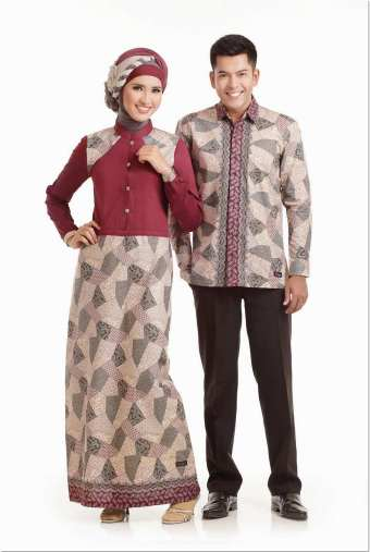 Model baju batik busana muslim untuk pesta pernikahan