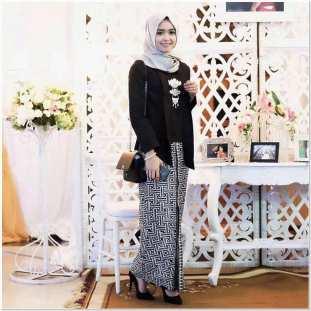 Model baju kebaya modern kombinasi batik