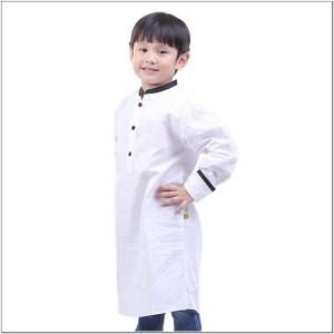 Baju model koko anak warna putih