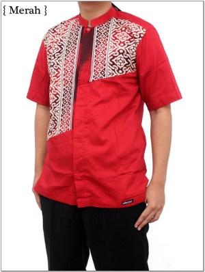 Baju koko warna merah bata terbaru