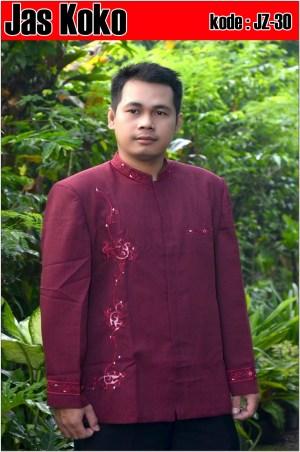 Gambar Baju koko warna merah hati