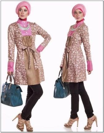 Aneka Model baju kerja batik wanita berjilbab