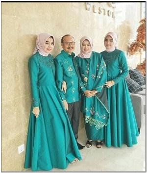 Gambar Model baju seragam keluarga untuk lebaran