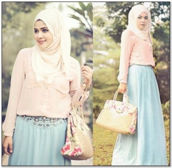 Model Style baju hijab kondangan simple