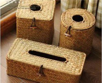Kerajinan tangan Wadah Tisu Dari Anyaman Bambu